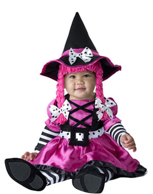 Farverigt hekse kostume til babyer