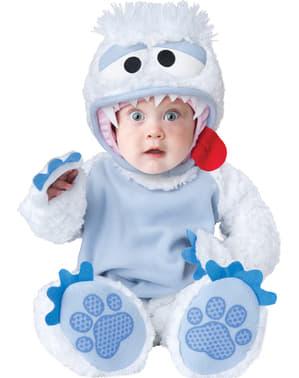 Yeti kostuum voor baby