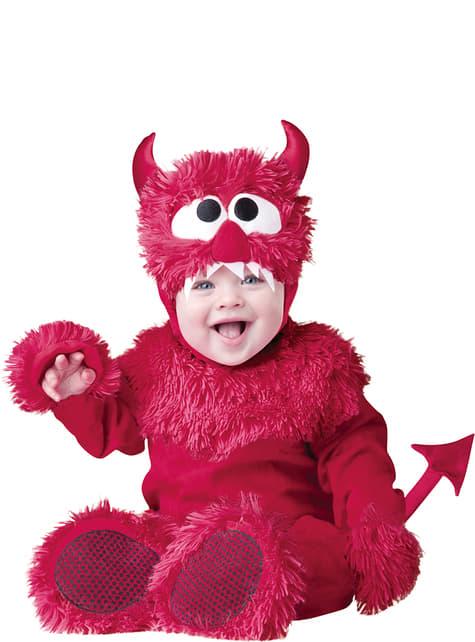 Disfraz de demonio peluchón para bebé