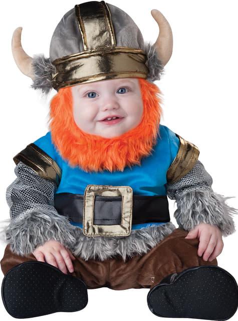 Disfraz de vikingo amoroso para bebé