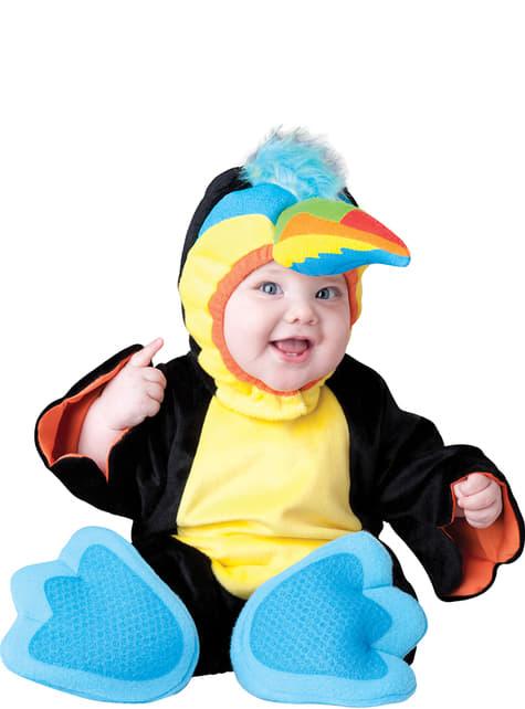 Déguisement perroquet coloré bébé