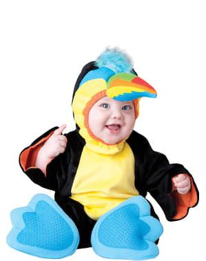 Maskeraddräkt tukan flerfärgad för bebis