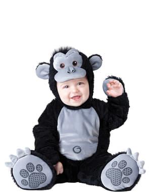 Fato de gorila amoroso para bebé