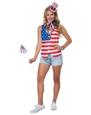 Kit Fato de patriota norte-americano para mulher