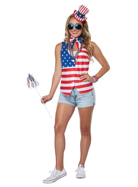 Amerikaans patriot kostuum voor vrouw