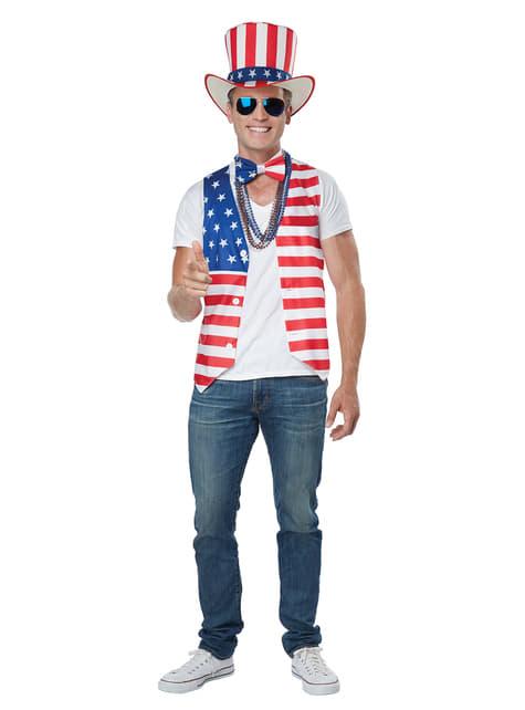 Amerikaans patriot kostuum voor mannen