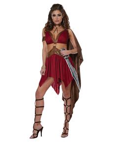 Disfraz de diosa guerrera para mujer