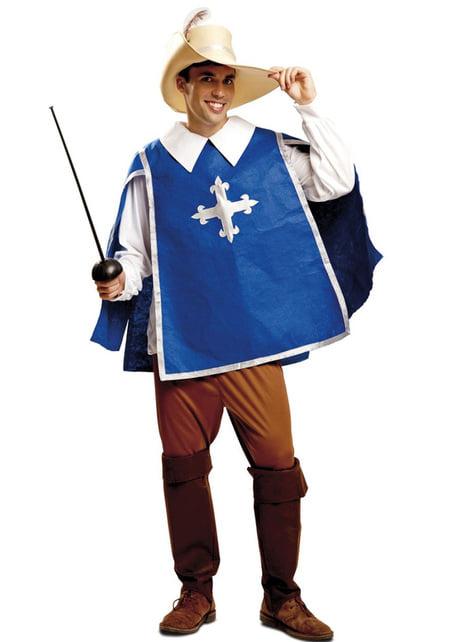 Men's Blue Musketeer Costume