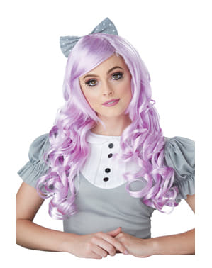 Parrucca Cosplay doll lilla per donna