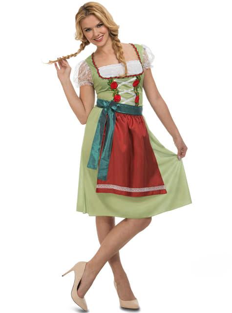 Disfraz de tirolesa verde para Oktoberfest