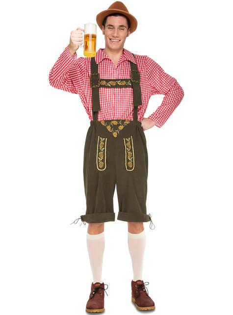 Fato de tirolês cervejeiro para homem