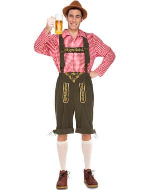 Tiroler Braumeister kniebund Lederhose Kostüm für Herren