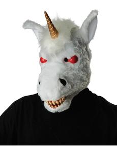 Máscara de unicornio endemoniado ani-motion para adulto