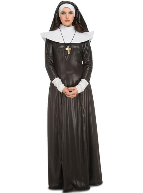 Disfraz de monja brillante para mujer