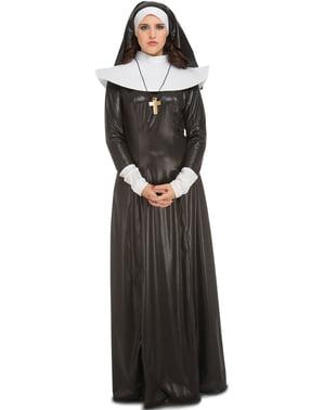 Skinnende nonne kostume til kvinder