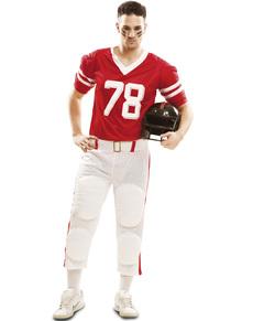 meet 424eb 6a55c Maskeraddräkt amerikansk fotboll röd för honom