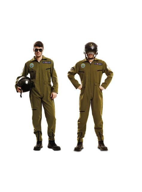 Disfraz de aviador Gun para hombre