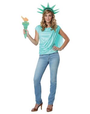 Kit disfraz de Estatua de la Libertad para mujer