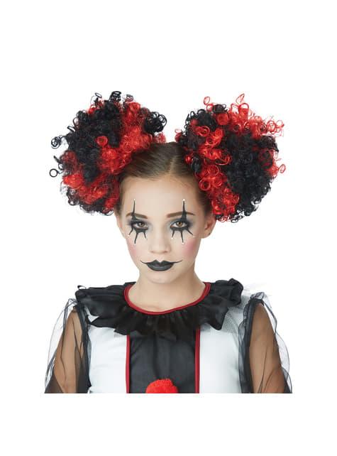 Moños de payaso negros y rojos para mujer - para tu disfraz