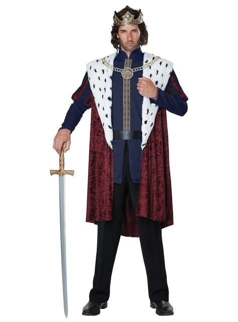 Disfraz de rey majestuoso para hombre