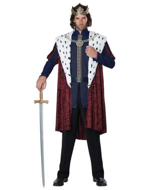 Majestætisk konge kostume for mænd