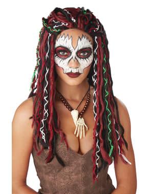 Pruik lady voodoo voor vrouw