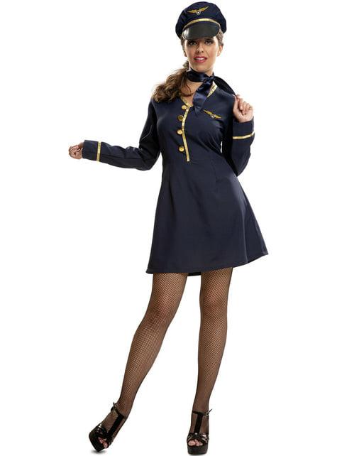 Fato de piloto de avião para mulher