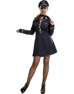 Costum de pilot de avion pentru femeie