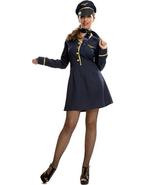 Costume da pilota d'aereo per donna