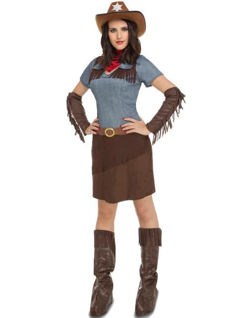 Costume da cowgirl del west per donna