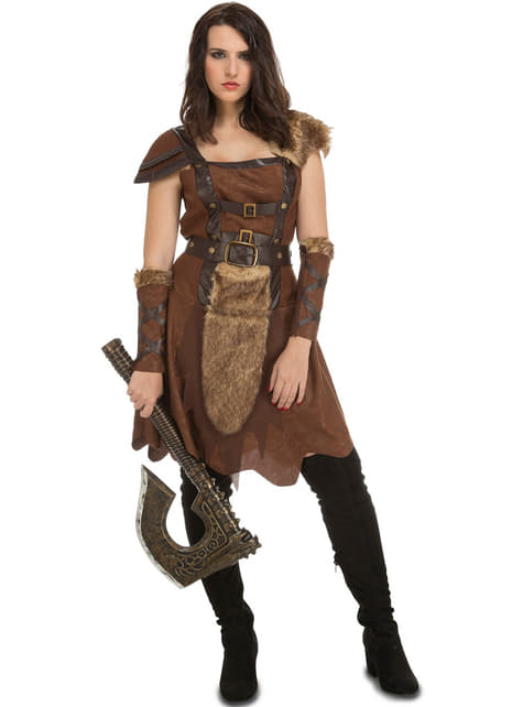Fato de viking guerreira para mulher