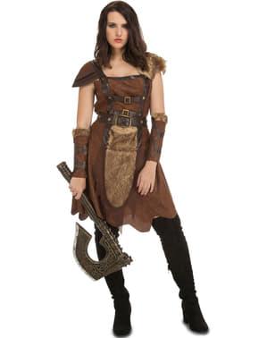 Wikinger-Kriegerin Kostüm für Damen