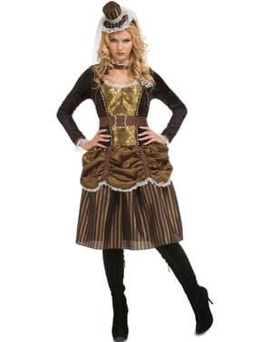 Dámský steampunkový kostým zlatý