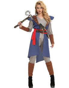 Disfraz de justiciera azul para mujer