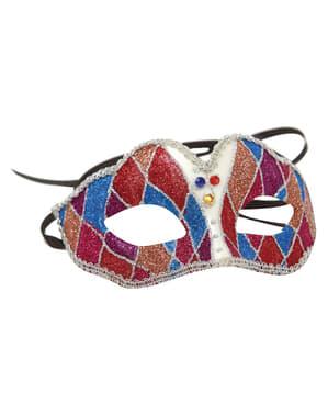 Harlekin maske til voksne