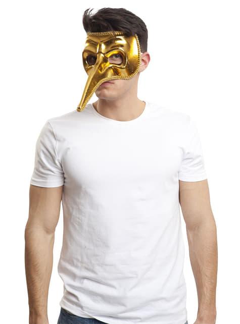 Antifaz veneciano dorado para hombre