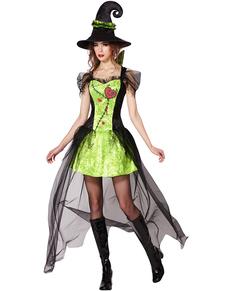 Disfraz de bruja con el corazón destrozado para mujer