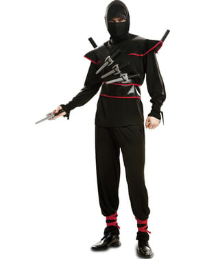 Maskeraddräkt ninja killer vuxen