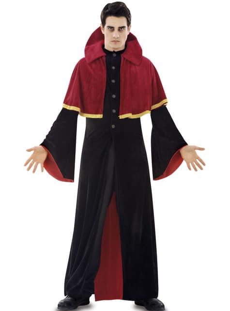 Fato de vampiro religioso para homem
