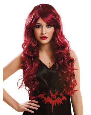 Perruque rouge vampiresse femme