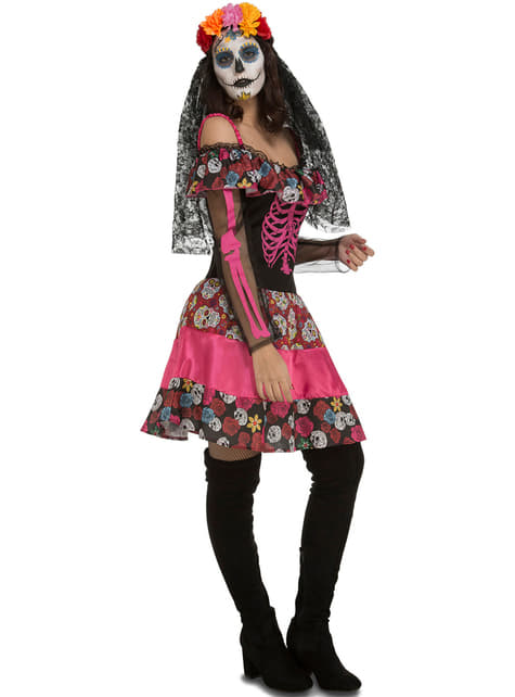 Disfraz de Catrina seductora para mujer
