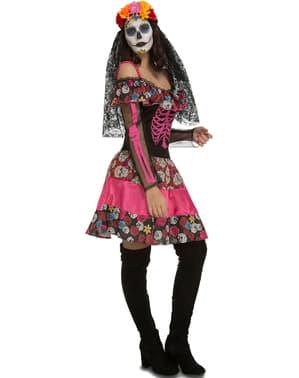 La Catrina skelet kostuum voor vrouwen