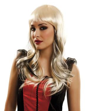 Peruk vampyr blond dam