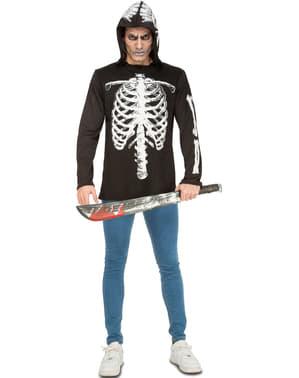 Skelet kostuum stoer voor manenn