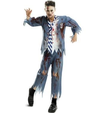 Déguisement étudiant zombie homme