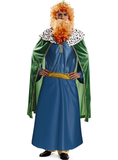 3 Koningen kostuum blauw voor mannen
