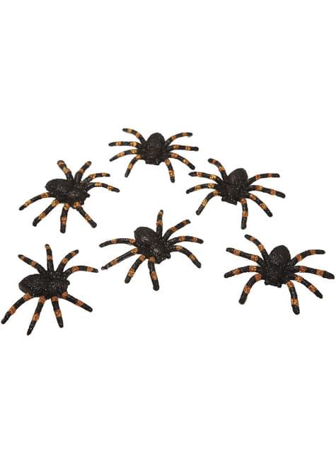 6 seis aranhas brilhantes