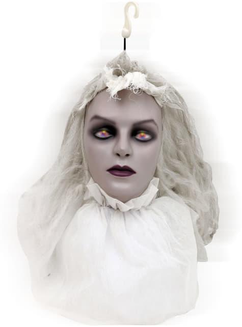 Hanging Light up Zombie Bride Head
