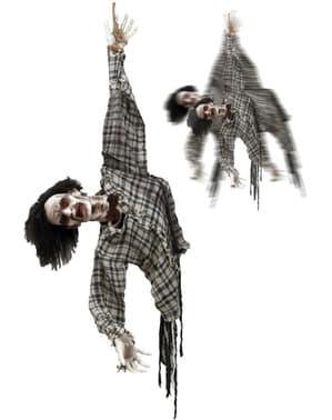 Figurka ruszająca się powieszony zombie