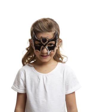 Máscara de morcego de lantejoulas para menina